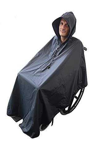 ActionCare - Poncho impermeable para Silla de Ruedas - Estándar para adultos - Capa de lluvia para silla de ruedas 🔥