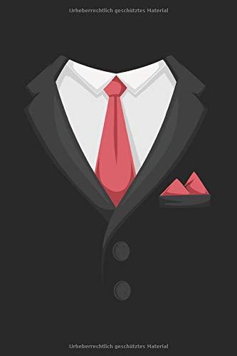 Anzug Smoking Krawatte Notizbuch: Herren Notizheft A5 blanko Malbuch Kalender Notizblock für Männer Journal Tagebuch Skizzenbuch Geschenk für Jungs Heft Zeichenbuch.