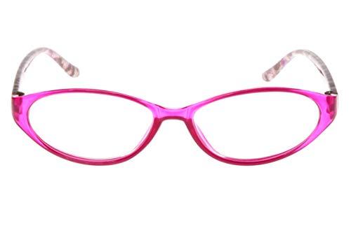 Leesbril dames roze rood met leuk kattendesign kattenogen vorm transparant leeshulp kijkhulp 1,0 1,5 2,0 2,5 3,0 3,5 dioptrieën Dioptrien 3.0 roze