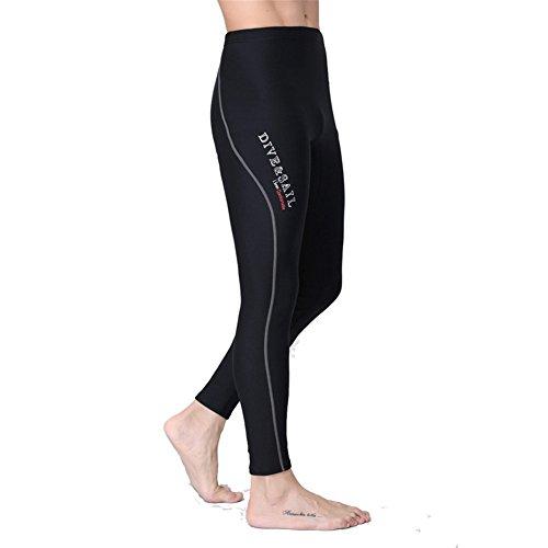 SANANG 1.5mm Neopren Herren Damen Warm Tauchen Hosen Schwimmen Surfen Lange Hose (Small, Grau Herren)