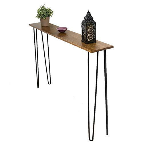 AIZYR Entryway/Console Table with 4 Hairpin Table Legs, Rustic Wood and Metal Sofa Table for Home Living Room