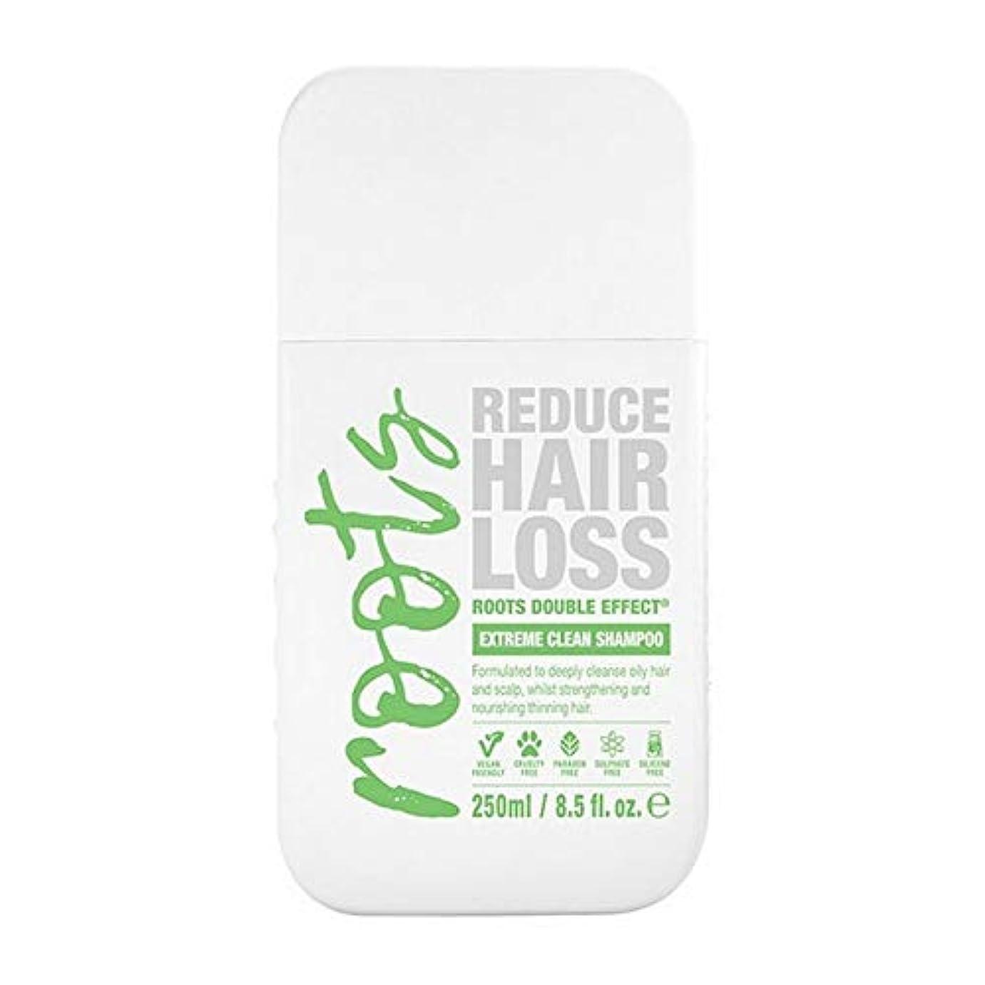 科学ソートゼロ[Roots ] 根のダブル効果極端なクリーンシャンプー250Ml - Roots Double Effect Extreme Clean Shampoo 250ml [並行輸入品]