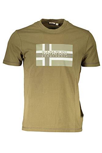 Napapijri Herren SOVICO T-Shirt, Grün (GREEN WAY GW11), Large (Herstellergröße:L)