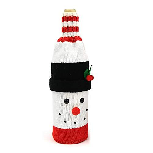 XIANRUI Ornement de Noël Creative Bouteille de Laine tissé Bar Noël Home Restaurant Set Bouteille de vin (Size : Snowman)