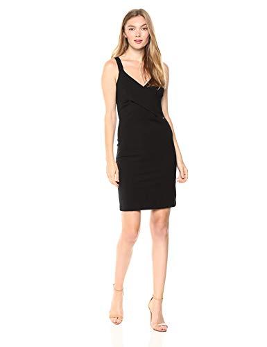 Armani Exchange AX Damen Bodycon Dress Kleid, schwarz, Groß