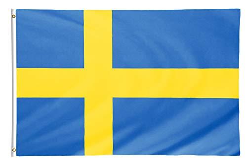 Star Cluster 90 x 150 cm Flagge Schwedens/Schweden Fahne/Sveriges flagga/Flag of Sweden (SWE 90 x 150 cm)