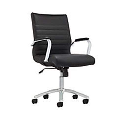 Realspace 2017-2-BL Winsley Mid-Back Chair, Black