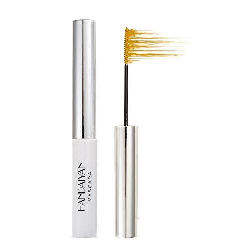 GL-Turelifes Mascara 12 couleurs Mascara fibre colorée Mascara de charme longue durée, cils épais et longs maquillage des yeux imperméable et anti-bavures (09 Jaune)
