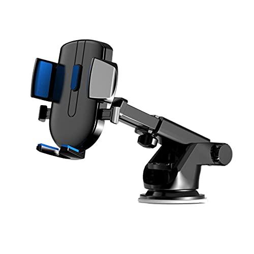 Soporte Móvil Coche, Soporte del Coche Móvil Universal para Parabrisas y Salpicadero con Ventosa de Gel Fuerte y Brazo Ajustable Giro 360 Grado para Phone X/8/7/6 y Más (Blue)