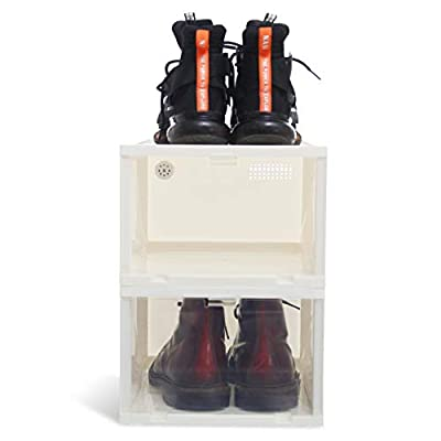 Citylife Stackable Shoe Box Clear Storage for S...