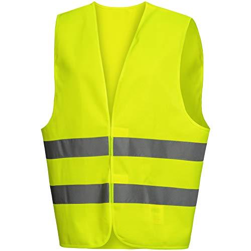 Nitras Warnweste - Gelbe Warnschutzweste mit Reflexstreifen für Damen & Herren - Schutzweste mit Klettverschluss - Größe M