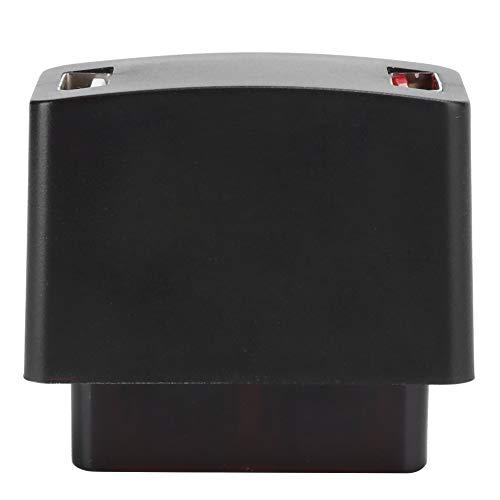 Cargador de coche, mini cargador de coche USB dual para mini cargador de vehículo OBD, carga rápida de computadora de 2 puertos