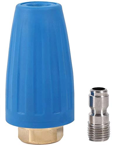 Quick Connect Hochdruckreiniger Reiniger Zubehör Spray Rotierende Turbo Düse 3000PSI 1/4