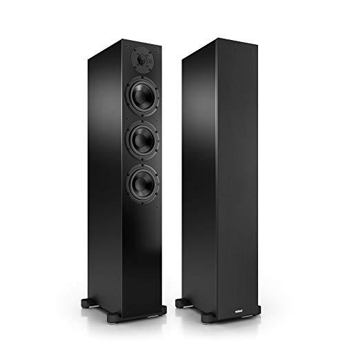 Nubert nuBox 513 Standlautsprecherpaar | Lautsprecher für Stereo & Musikgenuss | Heimkino & HiFi Qualität auf hohem Niveau | Passive Standboxen mit 2.5 Wegen | kompakte Standboxen Schwarz | 2 Stück