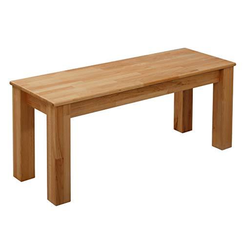 Krok Wood Sitzbank Bonn aus Massivholz in Buche 100x35x45 cm
