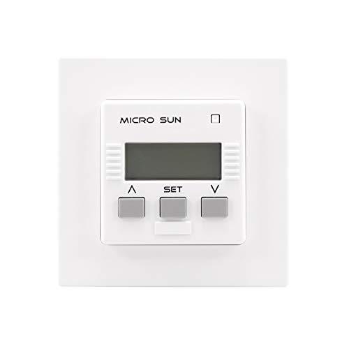 Simu Micro Sun Rollladen Jalousie Zeitschaltuhr Unterputz UP + 1,5m Sonnen- / Dämmerungssensor
