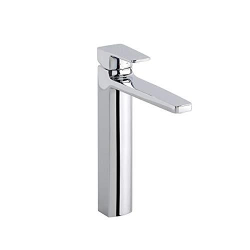 Grifo monomando para lavabo, con caño alto, colección Line, 29 x 22 x 4,2 centímetros, acabado metálico (referencia: 3937100)