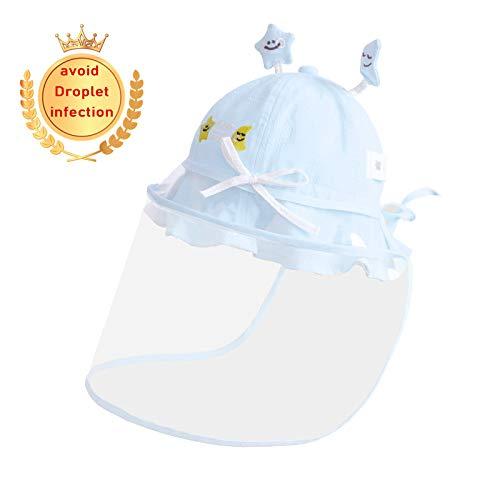 MALY Cap bébé Anti Enfants, Go Out Home Essentials Boy Bonnet de Douche Protection de Baseball Maman Non Leaking pour prévenir Gouttelettes Anti Fog Cap UV,Blue b,50cm