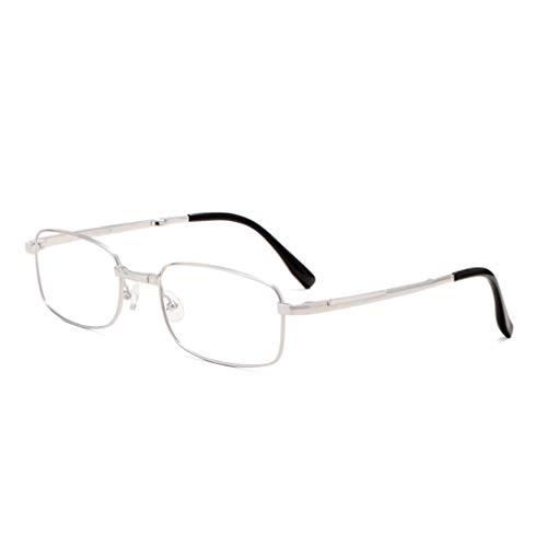 Zyfa leesbril, multifocaal, opvouwbaar, draagbaar, bifocaalbril voor lezen/loepen, prebytes, breed en veelvuldig bruikbaar, glazen blokkeren blauw licht