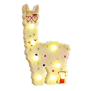 crib bedding and baby bedding whatook llama gifts toys for kids wall decoration night lamp for pregnant woman, kids, baby shower, nursery, battery operated nightlights(white llama love)…