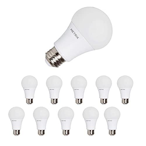 Metrix E27 LED-lampa glödlampa, 7 W 560 lumen, 3 000 Kelvin varmvit lågenergilampa ersätter 60 W, 10 stycken