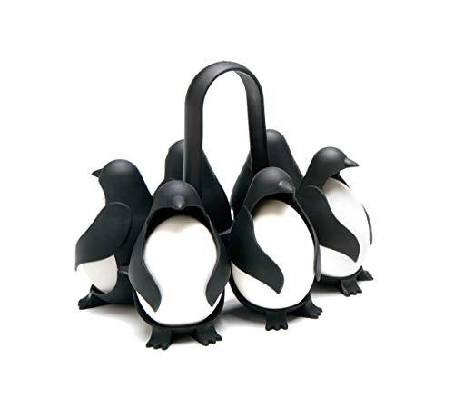 Zhenghui Rejilla para Huevos, Olla para Huevos con Forma de pingüino, Olla para Huevos multifunción de 6 Compartimentos, Rejilla para Almacenamiento de Huevos para refrigerador y Utensilios de Cocina