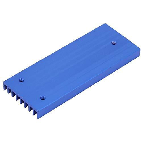 Raditor de aleta de refrigeración con diseño de dientes finos ranurados Q28 * 6 * 71,5 Disipador de calor para chip de placa de circuito