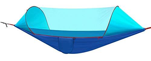 HW Camping Hangmatten met Pop-Up Muggennet, Boomriemen, Makkelijk op te zetten Draagbare Swing Slapende Hangmat Bed voor Wandelen Backpacking Achtertuin