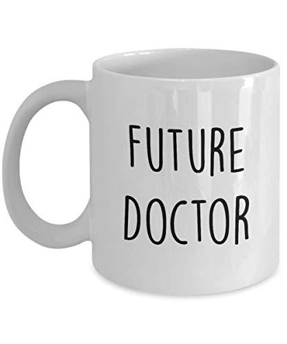 Taza de doctor Tazas de café para médicos Taza de cerámica blanca divertida de 11 oz Future Doctor