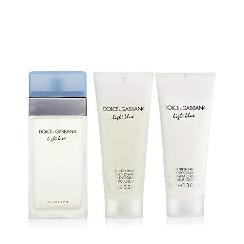 Dolce & Gabbana Light Blue Femme Eau De Toilette Spray 100 ml, Body Cream 100 ml und Shower Gel 100 ml