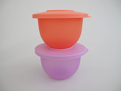 TUPPERWARE Junge Welle 550 ml lila + pastellorange kleine Schüsseln Schale 9182