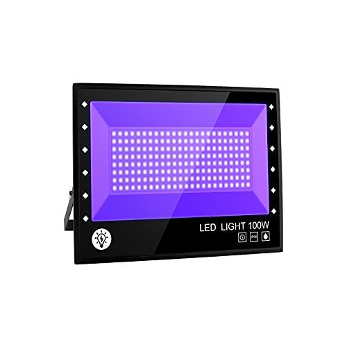 BOSITE Lumière Noire LED 100W,Imperméable IP66 Projecteur Lu