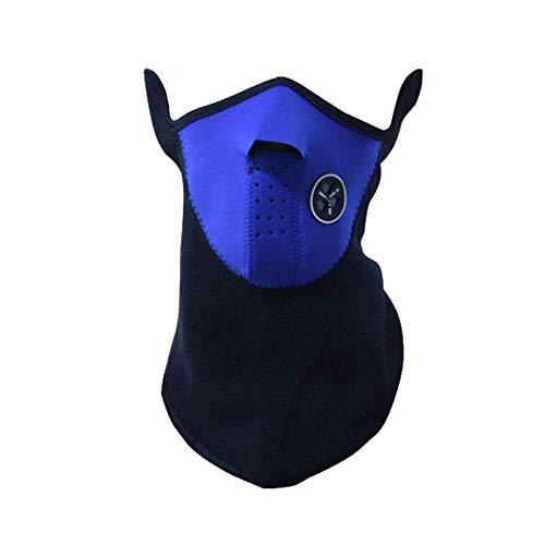Cycing Winter Warm Fleece Halbe Gesichtsmaske Bezug Ski Winddicht Nackenschutz Schal Kopfbedeckung Neoprenmasken Gesichtsmaske Schutzmaske-Blau