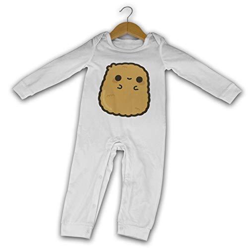 WushXiao Baby Crawler Nugget Nuggets, lang, Schwarz Gr. 18 Monate, weiß