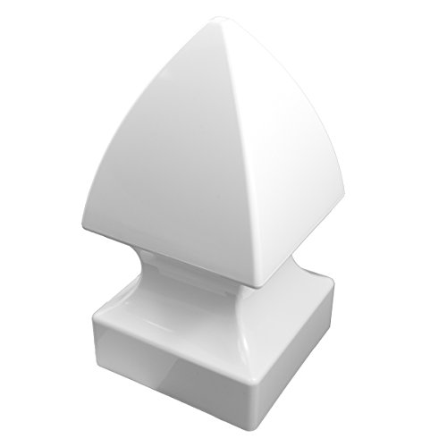 Weatherables Durable White PVC Vinyl Gothic Post Cap for A True 5 Inch X 5 Inch Post | Single Pack | AWCP-Gothic-5