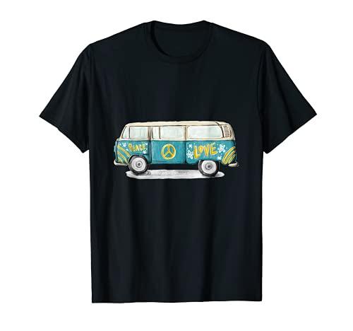 Hippie Hippies Peace Vintage Retro Disfraz Hippy Camiseta Camiseta
