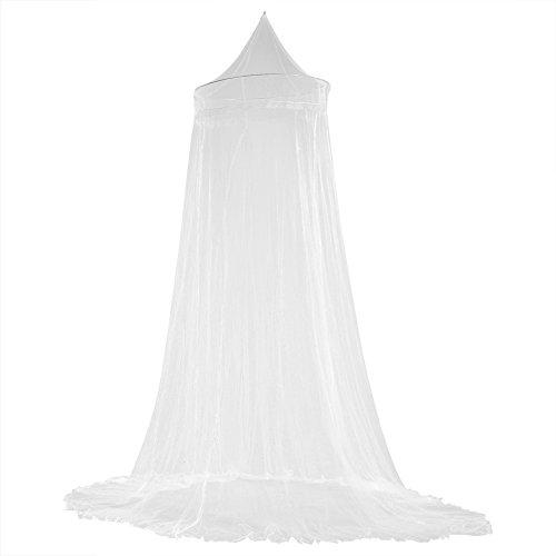 Fdit Cortinas de mosquitero para cama con dosel de encaje elegante princesa para niños, cortina para habitación de niñas (blanco)