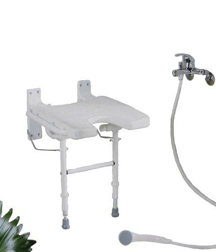 PREMIUM Duschhocker Duschsitz mit Hygieneausschnitt / höhenverstellbar