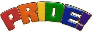 """LGBTQ Pride - Original Artwork, Metal Enamel Lapel Pin - 0.5"""" x 1.5"""""""