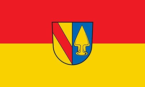 Unbekannt magFlags Tisch-Fahne/Tisch-Flagge: Teningen 15x25cm inkl. Tisch-Ständer