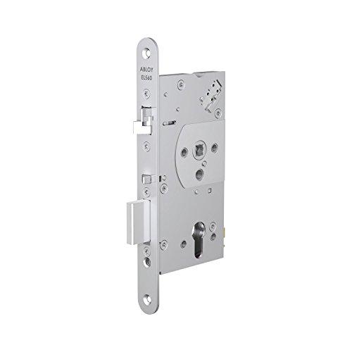 Cerradura de seguridad eléctrica EL 560, DM 65, Stulp 20 x 235 mm, acero cromado y acero inoxidable.