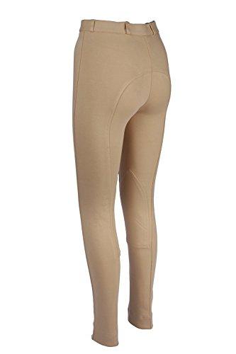 Discount Pet Accessories Pantaloni jodhpur da equitazione da donna, morbidi ed elasticizzati, beige, donna, Pantaloni mod. Jodhpur, JodS/L34/BG, Beige, Size 16/34-Inch