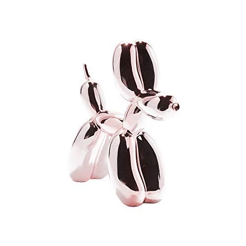 Figura decorativa de perro globo decoración del hogar - rosa metálico