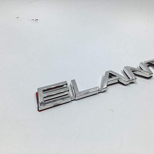 WQSNUB Auto Kofferraum Brief Aufkleber, Für Hyundai Elantra Auto ABS Chrom Buchstaben Emblem Heck Kofferraum Abzeichen Schwanz Logo Aufkleber