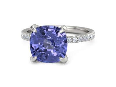 Forever Diamonds 5.10Ct Corte de cojín Piedras preciosas y talla redonda Diamante natural Anillos de boda para mujer Engageemnt Anillo de aniversario de oro sólido de 14K