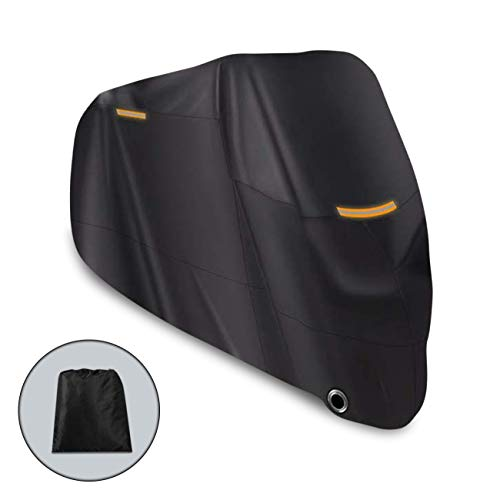 Riider Motorbike 210D Waterproof Cover, Motorcycle Outdoor Storage, Heavy Duty Durable Thick Oxford Fabric Cover for All Seasons, Perfect for Outside Storage, Moped Accessories, XL, 89inch, 226cm