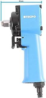 TECPO Mini Druckluft Schlagschrauber 1/2 Zoll Twin Hammer 790 Nm Druckluftschrauber Gewicht nur 1,19 kg und 95 mm Breit