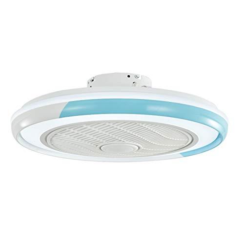 Ventilador De Techo Con Función De Luz, Luz De Techo LED Moderna Lámpara De Techo Regulable Con Velocidad De Viento Ajustable De 40 W Ultra Silencioso Control Remoto Sala De Estar Dormitorio,Azul