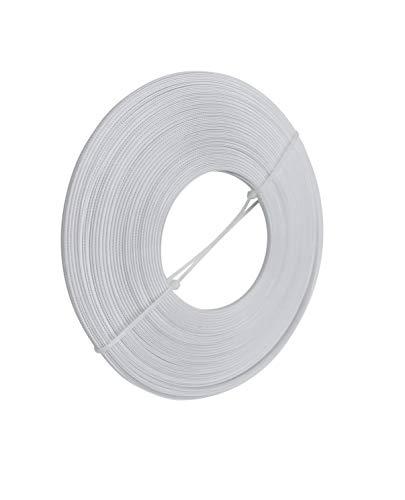 Polyester-Stäbchen, 4 mm breit, Weiß, 22,7 m pro Rolle, zum Nähen von Hochzeitskleidern, Korsetts, Brautkleidern, Bankettkleidern, Performance-Kleiden, Stillmützen usw.