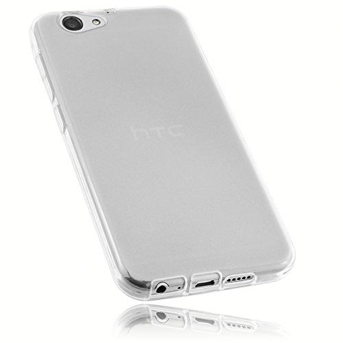 mumbi Hülle kompatibel mit HTC One A9s Handy Hülle Handyhülle, transparent weiss